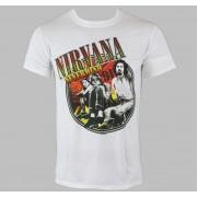 tricou stil metal bărbați Nirvana - Full Colour Photo White - LIVE NATION - RTNIR022