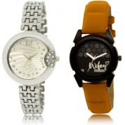 The Shopoholic Silver Black Combo Best Combo Pack Silver And Black Dial Analog Watch For Girls Belt Women Watches