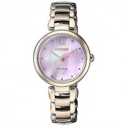 Citizen Analog Pink Dial Womens Watch-EM0533-82Y
