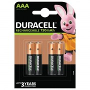 Duracell AAA, Uppladdningsbara Duracell Batterier Plus 750mAh. 4 st