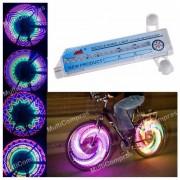 Tira Luz LED Rueda Bicicleta 32 LEDS 32patrones Impermeable Rayo Ciclismo Seguridad