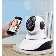 Conbre Security Camera v380 Double Antenna Wireless WiFi HD Camera 720P with 2 Way Audio and Support 64GB SD Card