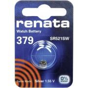 Baterie buton oxid de argint 379, 1,55 V, 16 mAh, Renata