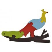 Skillofun Wooden Take Apart Puzzle Large - Peacock, Multi Color