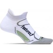 Feetures - Elite Light Cushion No Show Tab - White Black Extra Large