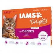IAMS Delights Senior em molho 12 x 85 g - Frango