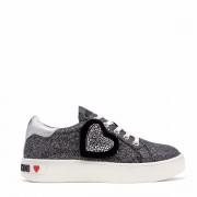 Moschino Sneakers Donna linea Glitter Nera con Cuore