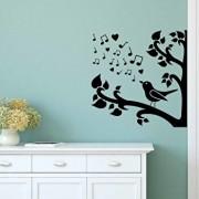 Sticker decorativ de perete Sticky, 260CKY5011, Negru
