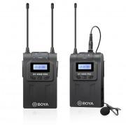 Sistem wireless UHF Boya BY-WM8 PRO-K1 cu Microfon lavaliera Transmitator si Receiver