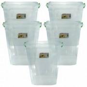 Pachet 5 cutii - Cutie alimente cu capac Plastic alimentar transparent Capacitate 20L Cutie branza 5x20L
