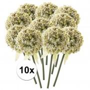 Bellatio flowers & plants 10x Witte sierui kunstbloemen 70 cm