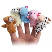 Toywale™ Animal Finger Puppet Soft Toys Puppet for Baby Boy and Girl Birthday Gift (Set of 10)