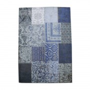 By-Boo Vloerkleed Patchwork Donker Blauw 300x200 Cm