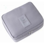 Everbuy Portable Waterproof Multi Pouch Travel Toiletry Cosmetic Makeup Case Storage Bag With Handle (Grey) Travel Toiletry Kit(Grey)