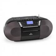 Jetpack Boombox Aparelhagem Portátil Leitor CD FM USB MP3 Pilhas Preto