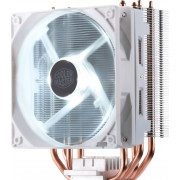 Cooler Master Hyper 212 LED White Edition - Koeler voor processor - LED - 120mm - PMW - LGA2066, LGA2011-v3, LGA2011, LGA1151, LGA1150, LGA1155, LGA1156, LGA1366, AM4, AM3+, AM3, AM2+, AM2, FM2+, FM2, FM1 - wit