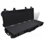 vidaXL Водоустойчив пластмасов монолитен кейс за оръжие на колелца