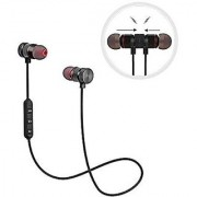 Wireless Stereo V4.1 Earphones With Mic Noise Cancelling Sweatproof Sports Running Headset BLACK colour