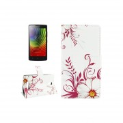For Lenovo A2010 Flower Buds Pattern Horizontal Flip Leather Case With Holder And Card Slots And Wallet