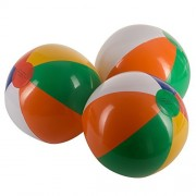 Fun Central (AY784) Inflatable 12 Rainbow Color Beach Balls- 15 Pack