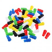 Anbau 60pcs 23mm Mixed Color Replacement Plastic Pegs for Traditional Family Game Hexagon Wooden Chinese Checkers