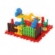 Cuburi de construit tip vafa - mini ferma cu animale 31 pcs