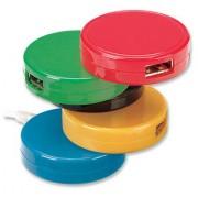 Hub de 4 puertos USB V2.0 galletas Manhattan 161527