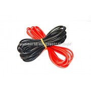 Generic Red : 1meter Red+1meter Black Silicon Wire 12AWG 14AWG 16AWG 22AWG 24AWG Heatproof Soft Silicone Silica Gel Wire Cable/RS2205 2300KV