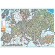 Harta de perete - Harta Europei fizica si rutiera/***