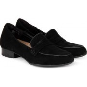 Clarks Keesha Cora Black Sde Slip On For Women(Black)