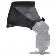 EB Difusor De Flash Portátil Universal Softbox 15 X 17 Cm Para La Cámara Speedlight-Negro Y Blanco