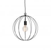 QAZQA Design round hanging lamp black 40 cm - Pelotas