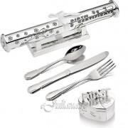 Cadou de botez argintat pentru bebelusi