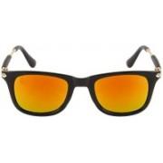 Poloport Wayfarer, Retro Square, Rectangular Sunglasses(Yellow, Red)
