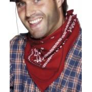 Röd Paisley-bandana/scarf