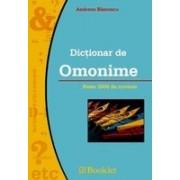 Dictionar de omonime (ed. Booklet).
