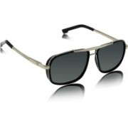 MNGroup Rectangular Sunglasses(Black, Silver)