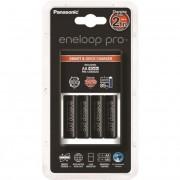 Elemtöltő, AA ceruza, 4x2500 mAh AA, gyorstöltő, PANASONIC \Eneloop PRO\