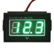 Vodotesný voltmeter zelený (3.5-30V)