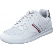 Tommy Hilfiger Lightweight Leather Mix Sneake White, Skor, Sneakers och Träningsskor, Sneakers, Vit, Herr, 44