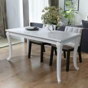 vidaXL Jedálenský stôl 116x66x76 cm, vysoký lesk, biely