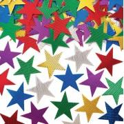 Baker Ross Corrugated Metallic Stars (Pack of 120)