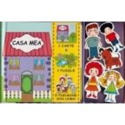 Casa mea - 1 Carte + 1 Puzzle + 5 Figurine din lemn