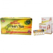 Jolly Fat Go Slimming Capsules Organic Green Tea - Natural Slimming Green Tea And Slimming Capsules (Combo Pack)