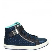 Skechers Shoutouts Quilted Crush hoge sneakers blauw