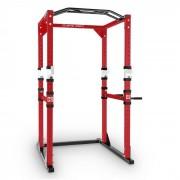 Tremendour Power Rack Estrutura Aço Ginásio Musculação Vermelho Branco