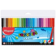 Carioci 24 culori Color Peps Ocean Maped