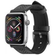 Apple Spigen Retro Fit Apple Watch 44MM / 42MM Bandje Kunst Leer Zwart