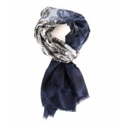 Profuomo Schal Blau Paisley - Blau