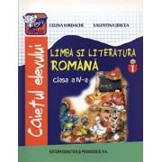 Limba si Literatura Romana, caietul elevului, clasa a IV-a, semestrul 1/Celina Iordache, Valentina Jercea